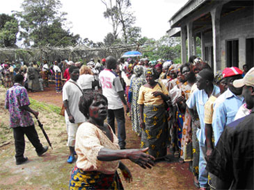 Baba II residents queue for test