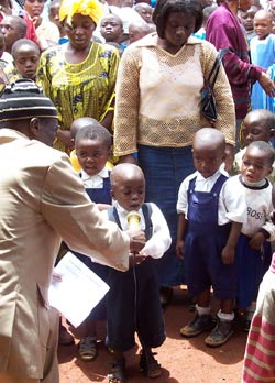 Children participate in project launch